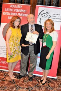 <b>Making a fool of myself in front of famed New York Times columnist Maureen Dowd and NSNC President Lisa Smith Molinari at the NSNC 2017 conference. Very professional, Dave. Very professional.</b>